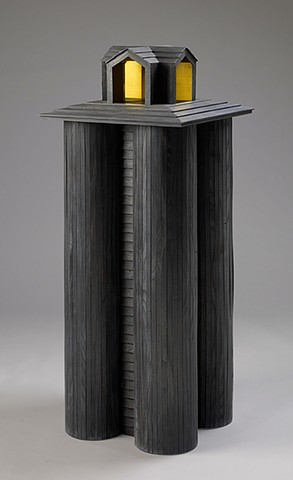 display cabinet in the form of a grain elevator