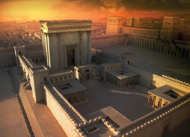 Solomon's Temple Matte Painting