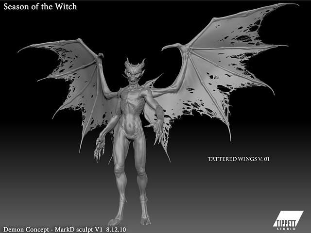 Season of the Witch: Baal conceptual sculpt, wing tears