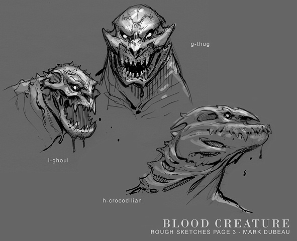 Blood Monster Sketches (unused Librarian 3 concepts)