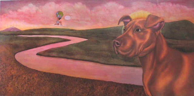 This work is in response to a documentary I saw about a ban against pitbulls that was carried out in Denver CO and in Texas