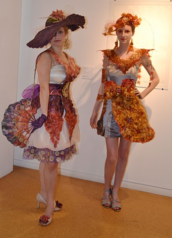 Wearable art pieces.