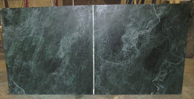 Faux Green Marble