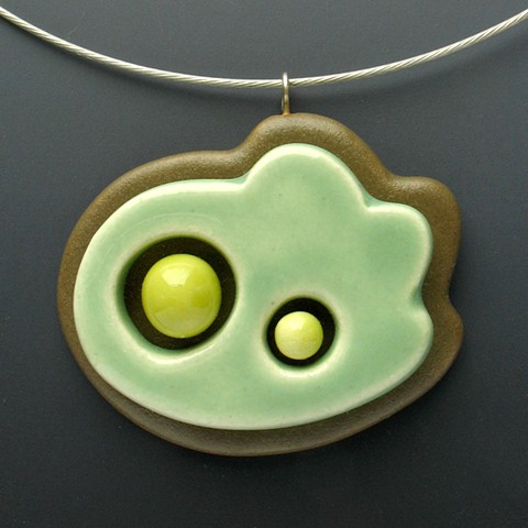 green friendly life form necklace