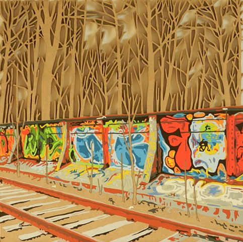 railway graffiti urban art pop art
