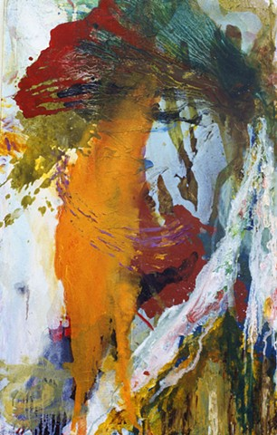 Adam Derums, large scale abstract painting, WA artist.