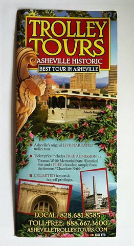 Asheville Historic Trolley brochure