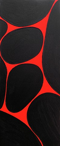 Gary Paller acrylic on canvas in bold black and red acrylics by Gary Paller