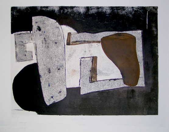 rocky monotype by los angeles artist gary paller