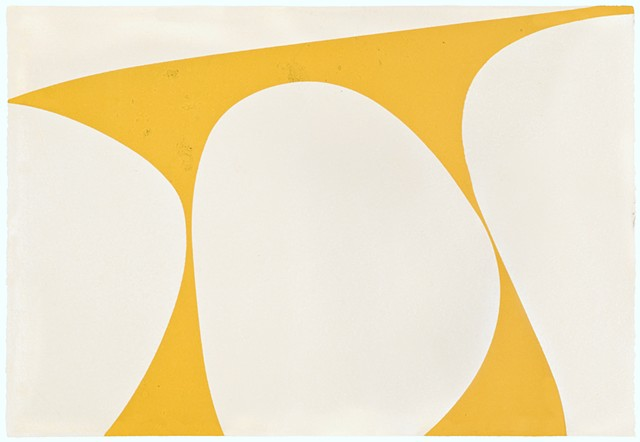 yellow and white monotype from Wildwood Press