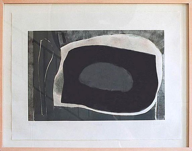 Gary Paller monotype on paper by los angeles artist gary paller