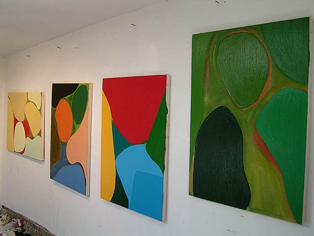 paller paintings 4 abstractions in studio