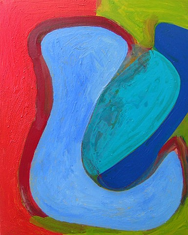 Gary Palleranother looser painting with primary colors by Gary Paller