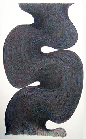 big snakey painting abstraction by Gary Paller