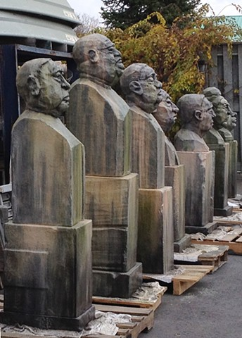 Oligarchs Tronies sculpture heads by Michelle Post