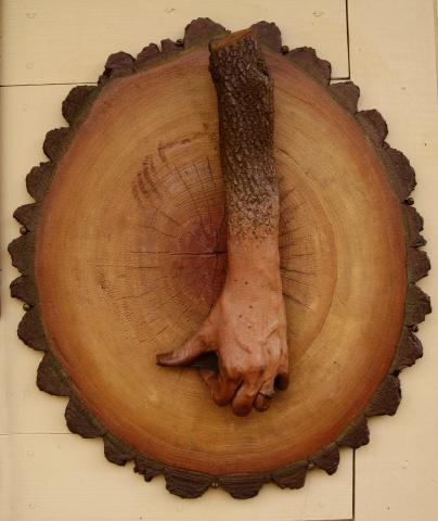 Michelle Post, art, sculpture, Knock On Wood, door knocker