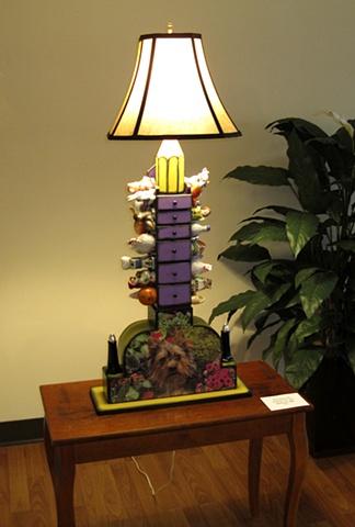 ©Michelle Post, lamp, shaker furniture, jigsaw puzzles, salt shaker, pepper shaker, table lamp