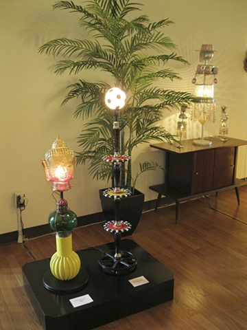 """Charmaine Caire- """"OHM"""" and """"Empty Nest"""" artist lamps"""