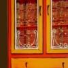 Orange Lighted Cabinet