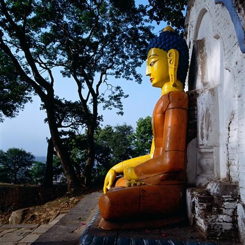 Buddha Statue, Swyambhunath, Nepal, 1992