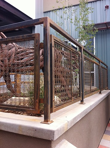wire mesh railing for Horse Gulch Health Campus