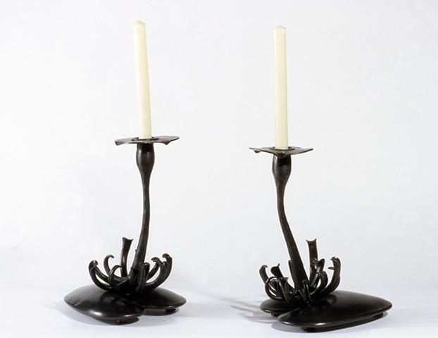 Lily Pad Candlesticks