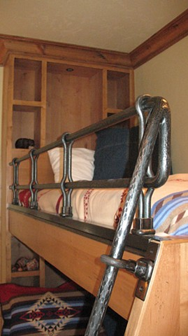 railing bunk bed forged telluride