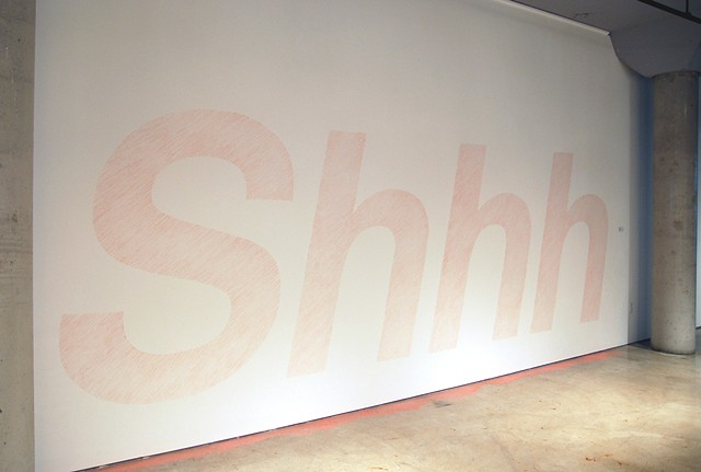Artist Adam David Brown, Silence, Wall Drawing