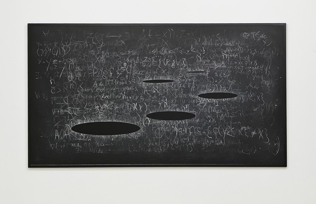 Artist Adam David Brown, Infinity Plus One,  Chaalkboard drawing