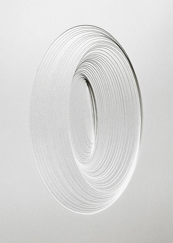 Artist Adam David Brown, White Noise, Cut Paper