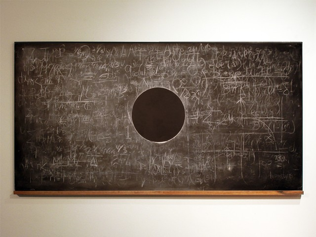 Artist Adam David Brown, Eclipse, Chalkboard drawing