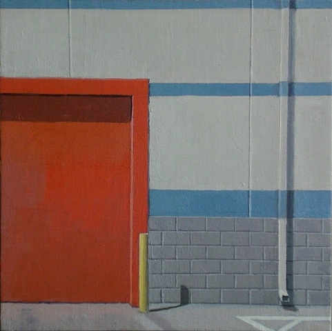 Composition with Red Door