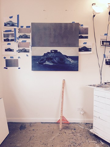 Studio Interior with Rock Salt Painting