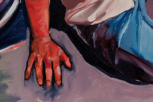 new diptych: left panel, detail 3
