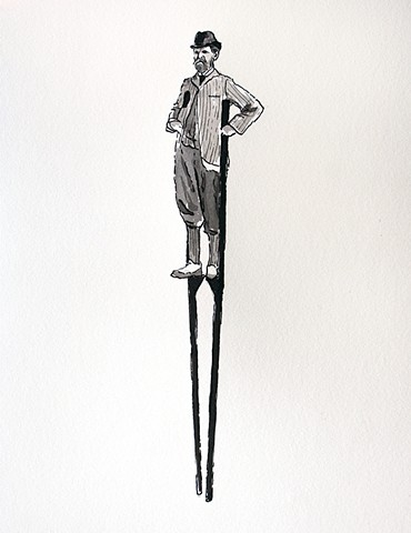(Man on Stilts II)