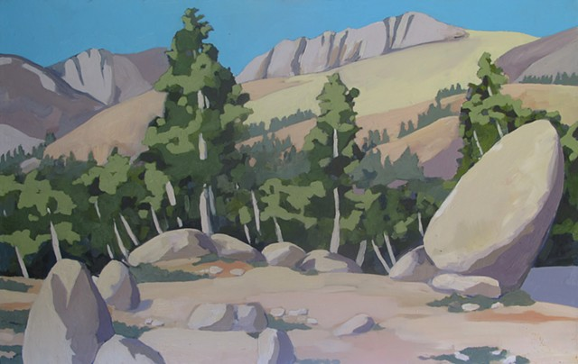 oil painting paiute pass