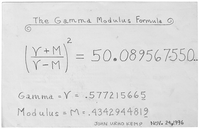 The Gamma Modulus Formula 11.24.1996 front & back