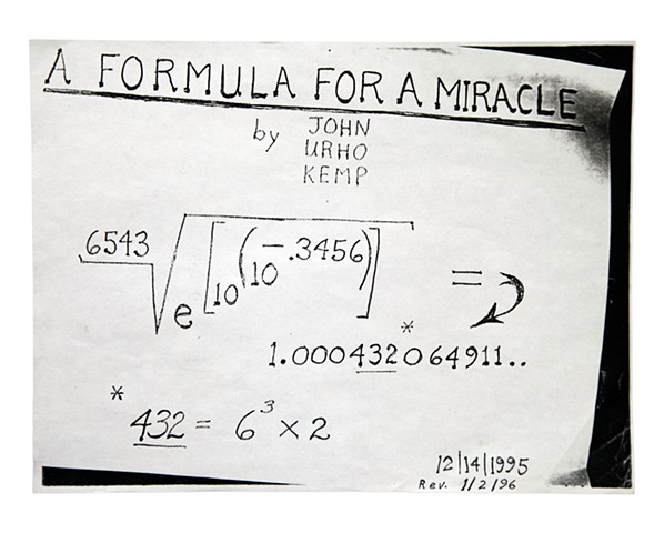 A Formula For A Miracle (revised)  1/2/1996