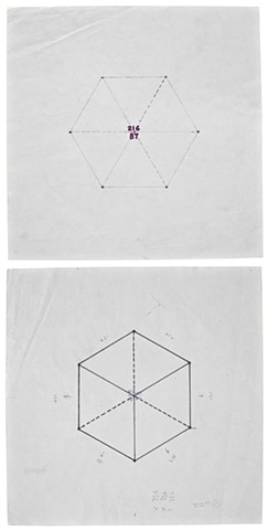 Untitled (Hexagon) c. 1992 front & back