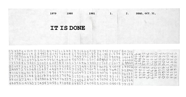 It Is Done  c.2005 (front and back)