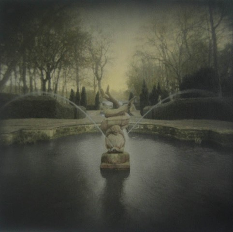 Dolphin Fountain, Buscot Estate, England