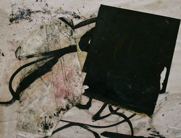oil,paper,abstract,mind,awareness,abstract contemplative,black,while