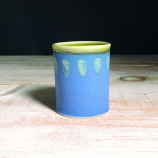 Cobalt and Avocado Abstract Tumbler