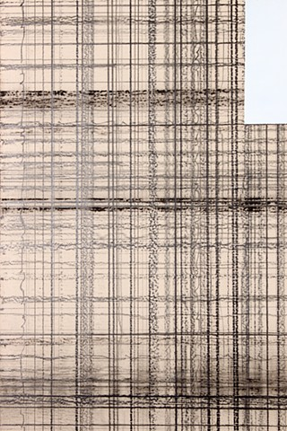graphite grid on panel by Yvette Kaiser Smith
