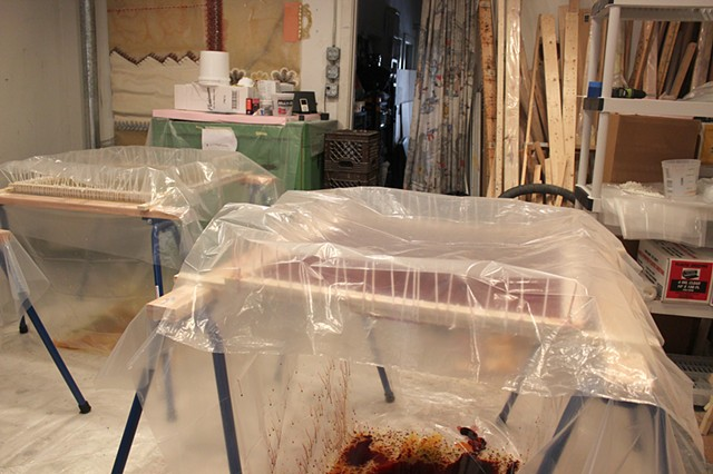 Yvette Kaiser Smith crocgeted fiberglass sculpture studio process
