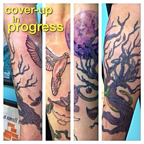 In progress cover-up on my friend Brett!