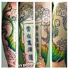 Myke's other forearm, with progress