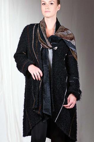 """""""Piedra"""" Ebony Cloud Shawl Coat"""