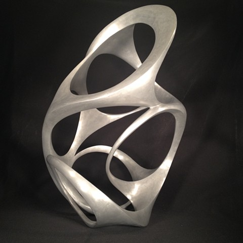 Bonded aluminum sculpture contemorary beautiful organic fluid rave psychedelic smooth polished abstract sexy modern