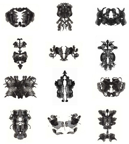 liquid light, silver gelatin emulsion, camera-less photography, alternative photography, abstract, bilateral symmetry, inkblot, Rorschach, Holtzman, apophenia, pareidolia